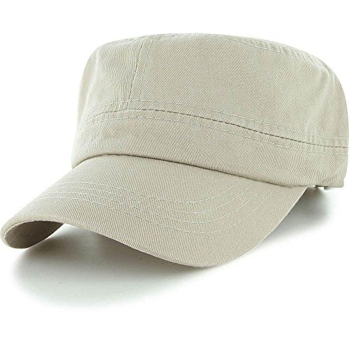 Khaki_Men Women BaseBall Cap Golf Driving Summer Army Military Patrol Cadet Hat (US - Ozzy Rims