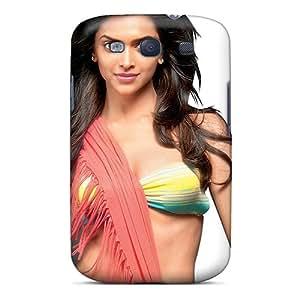 Galaxy S3 Case Cover - Slim Fit Tpu Protector Shock Absorbent Case (deepika Padukone 14)