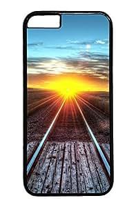 Railroad Sunset Custom iphone 6 4.7inch Case Cover Polycarbonate black
