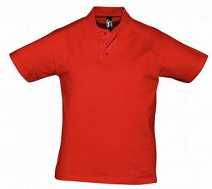Sol s Prescott Hombre Camiseta polo rojo M: Amazon.es: Ropa y ...