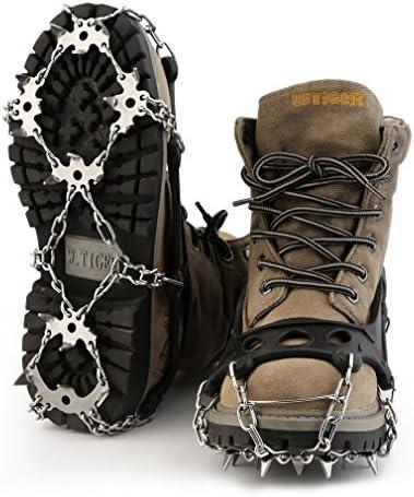 Taille:S//M//L//XL Crampon Neige pour Chaussure TIREOW Couvre-Pied antid/érapant Paire Crampon antid/érapant en Silicone Ski Glace verglas randonn/ée - S