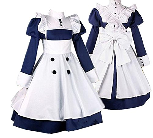 ZYHCOS Cosplay Servant Costume Blue Waiter Dress (Womens-XS) ()