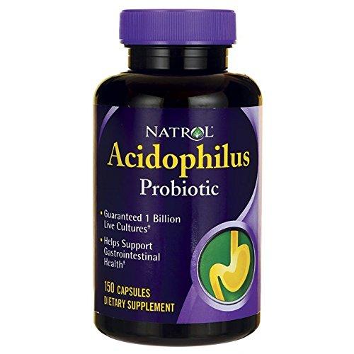 Natrol Acidophilus Probiotic - 100 mg - 150 (Fiber 150 Capsules)