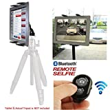 ChargerCity® HD-8X Vibration Free Live Stream Periscope Photo booth Tablet Tripod Mount w/Bluetooth Shutter Remote for Apple iPad Air Pro MINI Nexus Samsung Galaxy Tab Note Pro LG G Pad 7-12