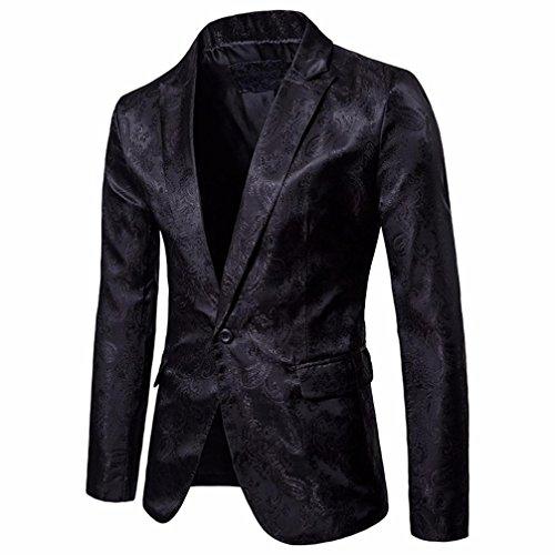 solo un casual con para botón ajuste con chaqueta zarupeng Negro de hombre de Chaqueta capucha vqtCZYwX