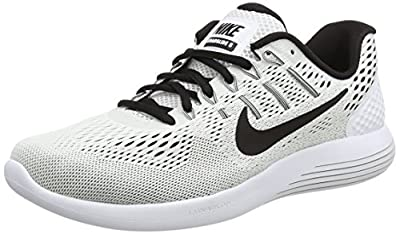 Nike Men's Lunarglide 8 White/Black Running Shoe 12.5 Men US