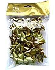 Christmas Gift Bows - Gold & Silver - Pack of 20