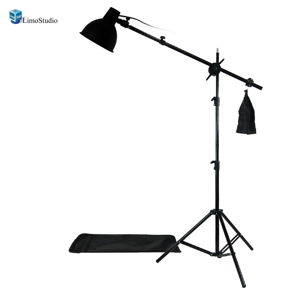 LimoStudio Photography Photo Studio Lighting Kit Reflector Light Kit with Boom Arm Hair Light Kit, AGG1303