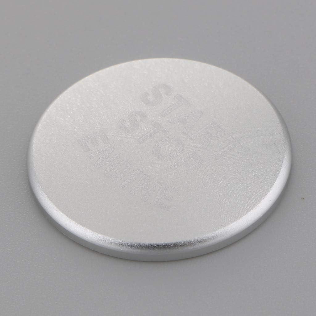 B Blesiya Ajuste de Aluminio de Etiqueta Engomada de Bot/ón de Parada de Comienzo de Motor Azul