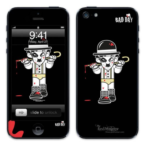 Diabloskinz B0081-0066-0015 Vinyl Skin für Apple iPhone 5/5S Moustache