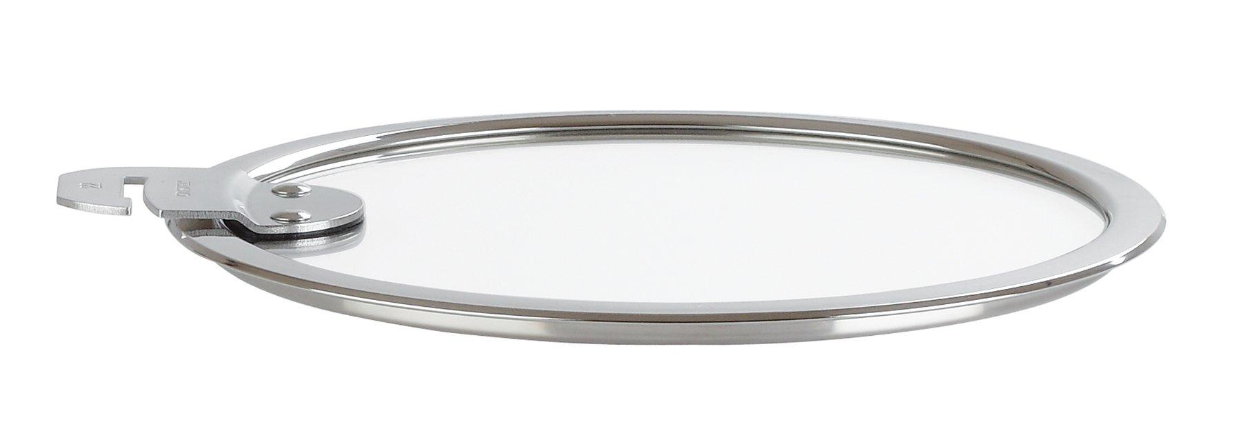 Cristel Strate K28SA Glass Lid, 11'', Silver