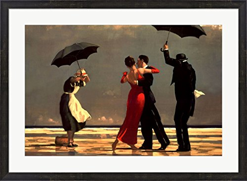 - The Singing Butler, c.1992 by Jack Vettriano Framed Art Print Wall Picture, Espresso Brown Frame, 36 x 27 inches
