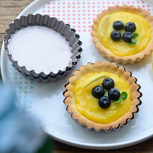 Webake 4 Inch Quiche Pans Removable Bottom Mini Tart Pans Set of 6 by Webake (Image #4)