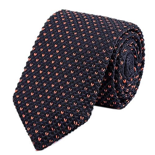 Vintage Ugly Black Tie for Men Knitting Narrow V Patterned Necktie for Adult Kid -