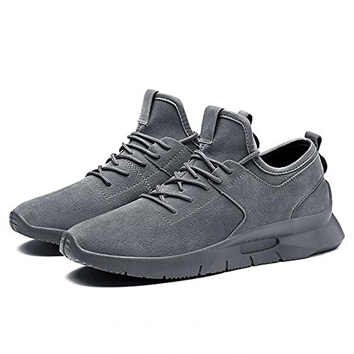 Men's Shoes Feifei Spring and Autumn Movement Heighten Casual Shoes 3 Colors(Size Multiple Choice) (Color : Gray, Size : EU39/UK6.5/CN40)