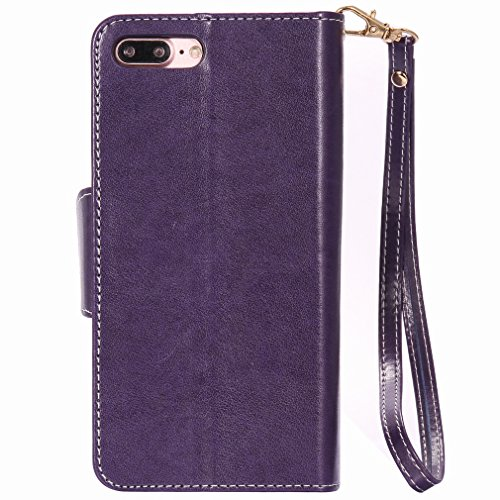 Yiizy Apple IPhone 7 Plus Funda, Chica Repujado Diseño Solapa Flip Billetera Carcasa Tapa Estuches Premium PU Cuero Cover Cáscara Bumper Protector Slim Piel Shell Case Stand Ranura para Tarjetas Estil