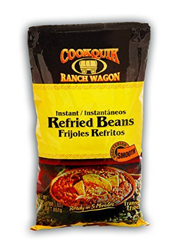 Cookquik Dehydrated Refried Pinto Smooth - 30 oz. bag, 12 bags per case by Trinidad Benham