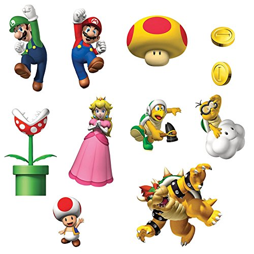 [Super Mario Bros Room Decor - Removable Wall Decorations] (Home Made Video Game Costumes)