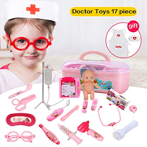 Lambie Classic Toddler Costumes (Doctor Play Toys Set For Child Medical Kit Baby Educational Creativity And Imagination, Train Communication Skill Pretend Classic Gift)