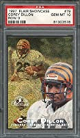 1997 flair showcase row 0 #79 COREY DILLON bengals rookie card (pop 3) PSA 10 Graded Card