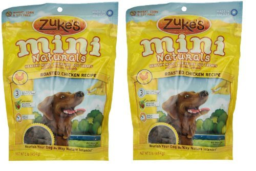 Zuke's Mini Naturals Dog Treats , Chicken 1lb 2 Pack