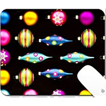Luxlady Gaming Mousepad 9.25in X 7.25in IMAGE: 24006547 Neon Colored Christmas Decorations 2 Neon Colored Christmas Decorations against a Flat Black Background