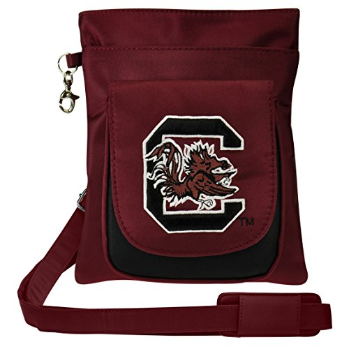 (NCAA South Carolina Fighting Gamecocks Crossbody Purse-Handbag-Travel)