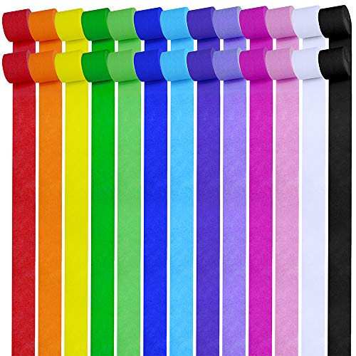 Lowest Prices! 26 Rolls 710 Yard 1.8 W Party Streamers Backdrop Decorations Crepe Paper Streamers R...