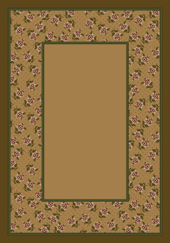 Design Center Rambling Rose Maize Rug Rug Size: Runner 2'4