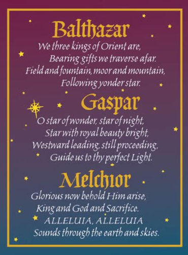 Holiday Kings Three Card (Shades of Color Three Kings By Name Holiday Cards, 5 x 6.75 Inches, 15 Cards and Envelopes (X13-52))