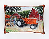 Allis Chalmers D-21 and WD-45 Tractors Throw Pillow