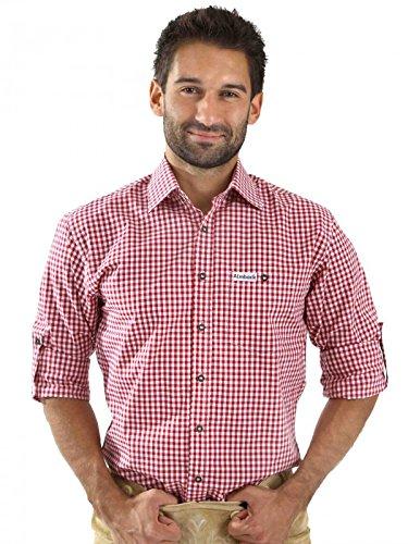 Almbock Trachtenhemd Sepp rot-kariert - FBA jetzt kaufen cf980aca21