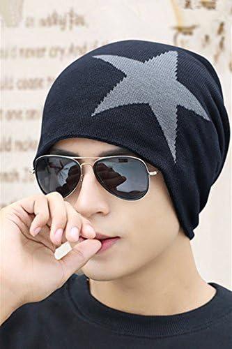 unique hat cap men man winter wool cap influx men thick warm winter outdoor mens knit cap ear baotou navy