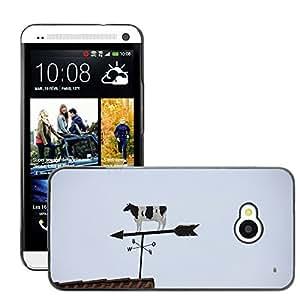 GoGoMobile Slim Protector Hard Shell Cover Case // M00123861 Animal Cow Wind Vane Weathervane // HTC One M7