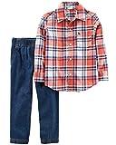 Carter's Boys' 2T-4T 2-Piece Plaid Shirt and Pants