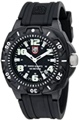 Luminox Men's 0201.SL Sentry 0200 Black Case With Luminescent Accents, Black Rubber Band Watch
