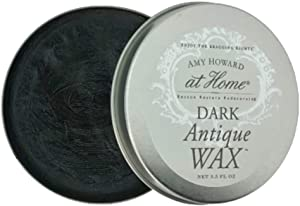 Dark Antique Wax | 3.5 OZ | Professional Antiquing Furniture Wax Protective Top Coat | Enhance & Destress Furniture, Cabinet, Chalky Finishes, Raw Wood, Metal, and More | Amy Howard At Home