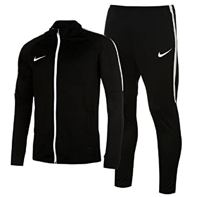 ff95487652189f Mens Sports Academy Warm Up 2 Pieces Tracksuit Jacket Bottoms (Small, Black/ White
