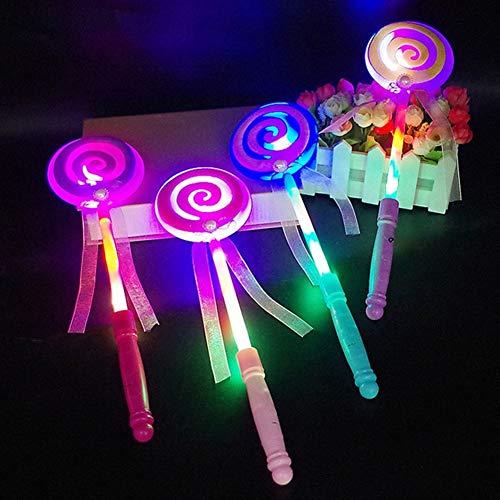 Wand Integrated (GSPet LED Light Flashing Fairy Magic Wand Princess Lollipop Stick Girl Xmas Decor - Random Color)