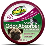 OdoBan Pet Solid Odor Absorber and Air Freshener 8 Ounce, 3 Pack Bundle