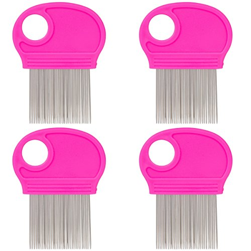 it Remover with Metal Teeth and Magnifier Tool for Hair and Head (Pink) ()