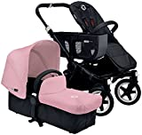 Bugaboo Donkey Complete Mono Stroller - Soft Pink - Black
