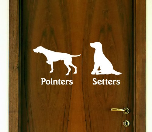 Vertigo Creative Products Restroom Door Decal Set Pointers/Setters (Men/Women) Décor Sticker Vinyl - Funny ()