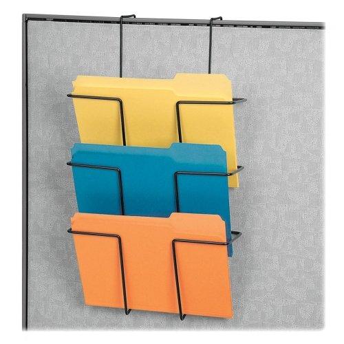 Wholesale CASE of 10 - Fellowes Wire Triple File Pockets -Triple File Pocket, 12-5/8''x4-5/8'', Wire/Black