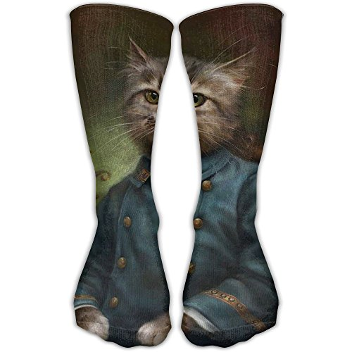 Unique Cat Man Animal Girls Dress Socks Womens Crew Socks by SEyuKBP
