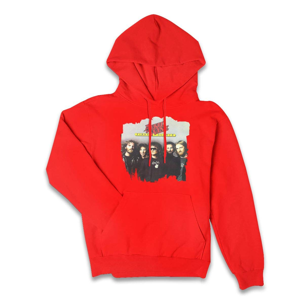 Erman S Color Name Retro April Wine Music Band Pullover Hooded Shirts With Pocket X