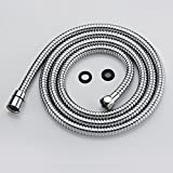 79 inch shower hose - Purelux Universal connection 79 Inch Double lock Stainless Steel Replacement Shower Hose with Brass Fittings, Chrome Finish