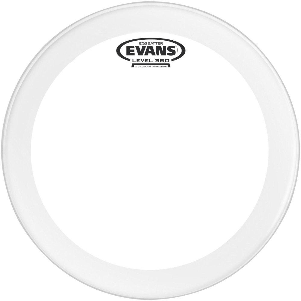 Evans EQ3 Clear Bass Drum Head, 20 Inch - BD20GB3 Evans Heads