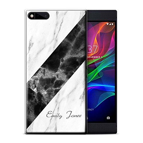 Personalized Custom Marble/Granite Gel/TPU Case for Razer Phone/Sash/Signature Design/Initial/Name/Text DIY Cover