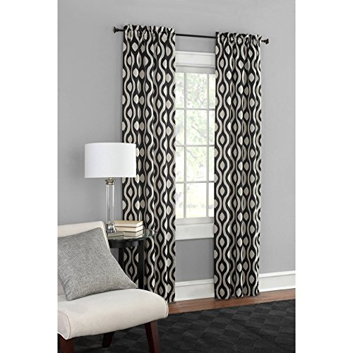 Thermal Print Woven Curtain Panels, Set of 2, Room Darkening, Insulated, Multiple Colors (Teal)